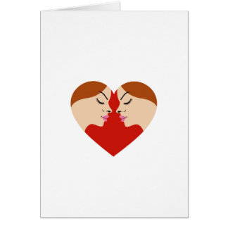 faces in red heart cards
