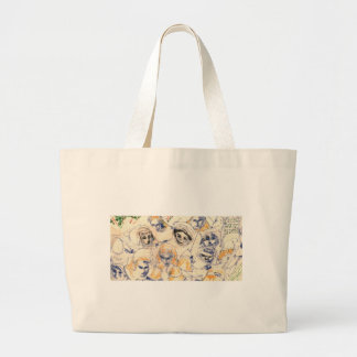 Faces Large Tote Bag