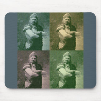faces of 1909 crazy French opera guy Mouse Pad