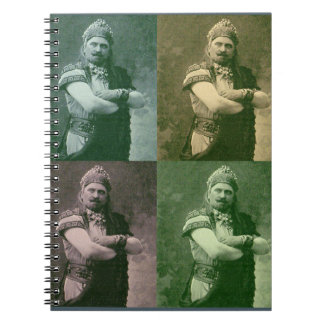 faces of 1909 crazy French opera guy Notebook