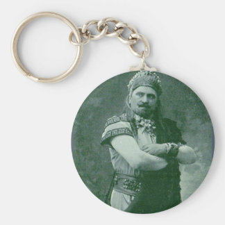 faces of 1909 crazy French opera singer Keychain