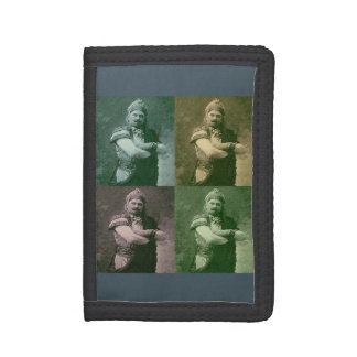 faces of 1909 crazy French opera singer Trifold Wallet