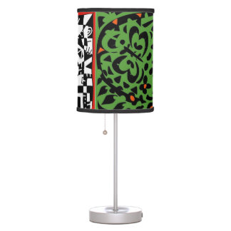 Faces of art table lamp