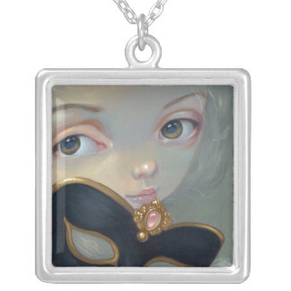 Faces of Faery 122 NECKLACE mask fairy rococo