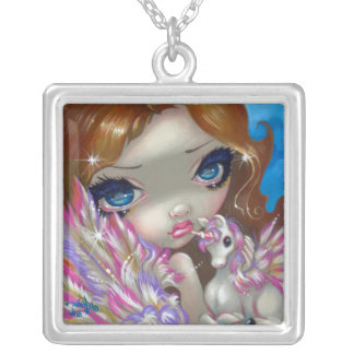 Faces of Faery 136 NECKLACE unicorn fairy