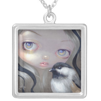 Faces of Faery 138  NECKLACE chickadee bird fairy