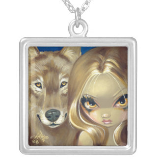 Faces of Faery 94 NECKLACE wolf fairy