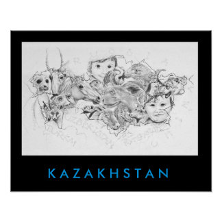 Faces of Kazakhstan Poster