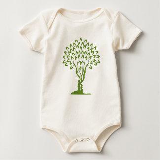 Faces Tree Optical Illusion Concept Baby Bodysuit