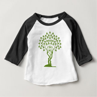 Faces Tree Optical Illusion Concept Baby T-Shirt