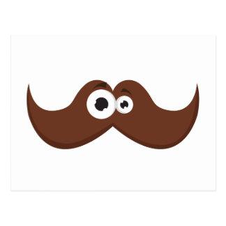 Facetache - The moustache with a face Postcard