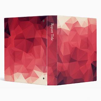 Facets of Red Wine Colors Vinyl Binders