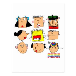 Facial Expressions Postcard