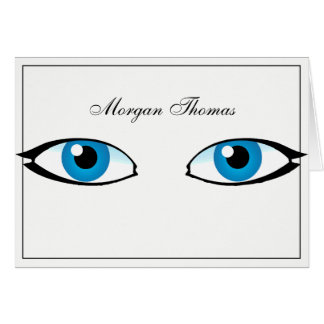 Facial parts - Bright Blue Eyes Card