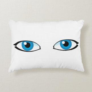Facial parts - Bright Blue Eyes Decorative Pillow