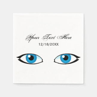 Facial parts - Bright Blue Eyes Disposable Napkins