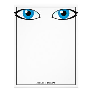 Facial parts - Bright Blue Eyes Letterhead