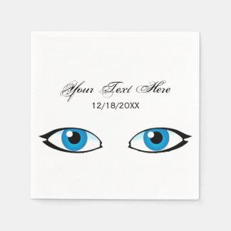 Facial parts - Bright Blue Eyes Paper Napkin