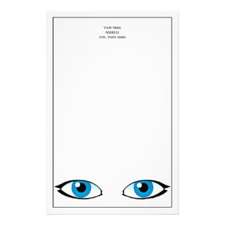 Facial parts - Bright Blue Eyes Stationery