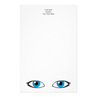 Facial parts - Bright Blue Eyes Stationery