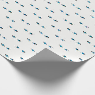 Facial parts - Bright Blue Eyes Wrapping Paper