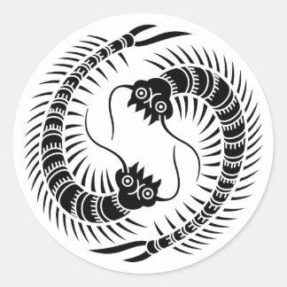 Facing Centipedes circle Classic Round Sticker