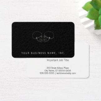 Facing Skulls Business Card