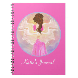 Facing The Sun Angel Art Custom Notebook