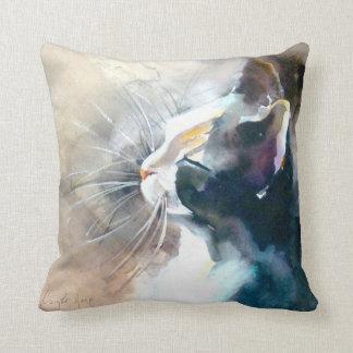 """""""Facing the Sun"""" Cat Print Throw Pillow"""
