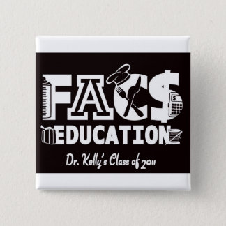 FACS Education 2 Inch Square Button