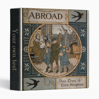 Facsimile old 1884 travel book binders