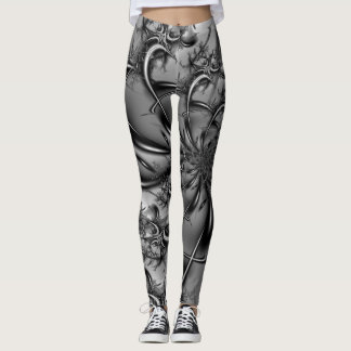 Factal #6 in black and white leggings