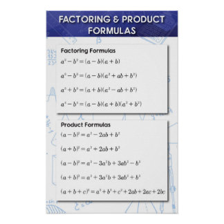 Factoring and Product Poster