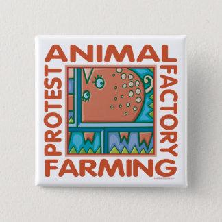 Factory Farming 2 Inch Square Button