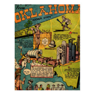 Facts About Oklahoma Postcard