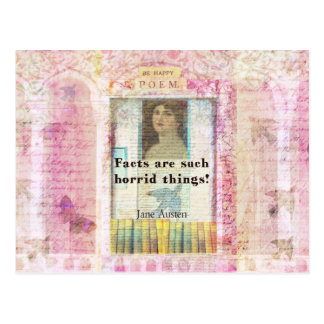 Facts are such horrid things -  Jane Austen quote Postcard