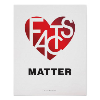 Facts Matter Lover's Heart® Poster
