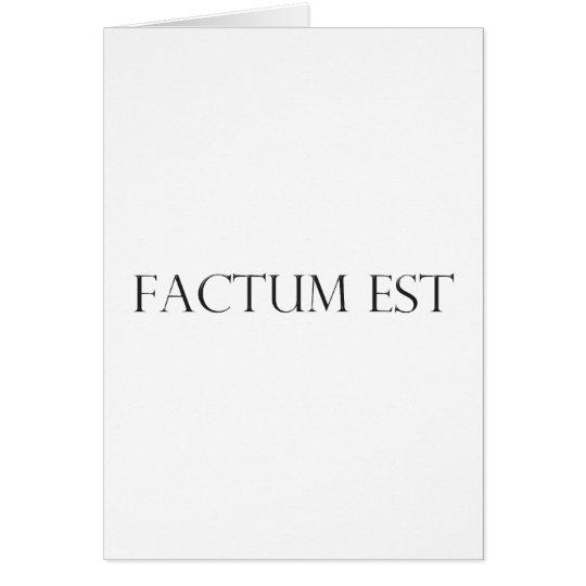 factum latin est latin card
