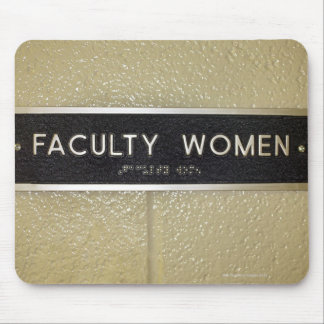 Faculty women sign mouse pad