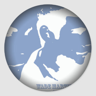 Fade to Black Round Stickers