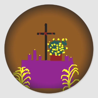 Fade to Black Round Stickers-Easter Classic Round Sticker