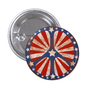 Faded American Peace Sign 1 Inch Round Button