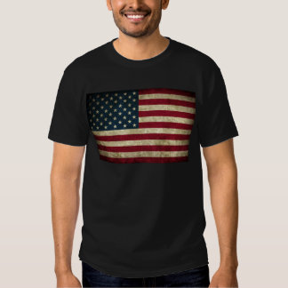 faded and grungy american flag tshirt