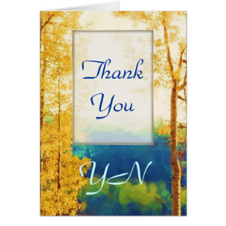 Faded Aspens Thank-You Card