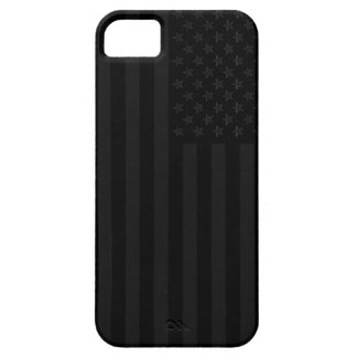 Faded black and grey american flag iPhone 5 cases