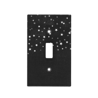 Faded Black Denim Starry Grunge Cool Bedroom Light Switch Cover
