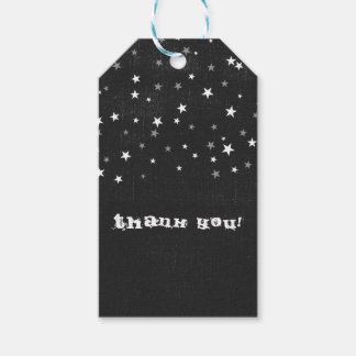 Faded Black Denim Starry Grunge Party Favor Custom Gift Tags