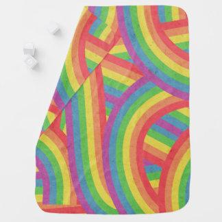 Faded Bohemian Rainbow Stripes Boho Baby Baby Blanket