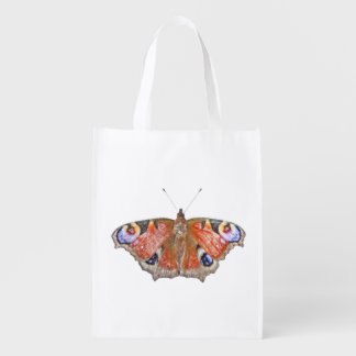 faded butterfly reusable grocery bag