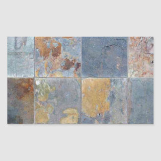 Faded chipping blue orange brick tiles